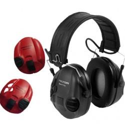 Ochronniki słuchu PELTOR SportTac aktywne czerwone