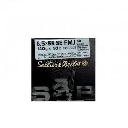 6,5x55SE FMJ 140gr TRAINING S&B