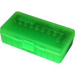 Pudełko na am. P-50szt kal. .45ACP MTM zielony